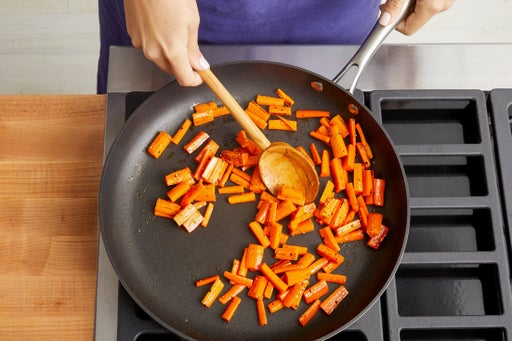 Cook & finish the carrots