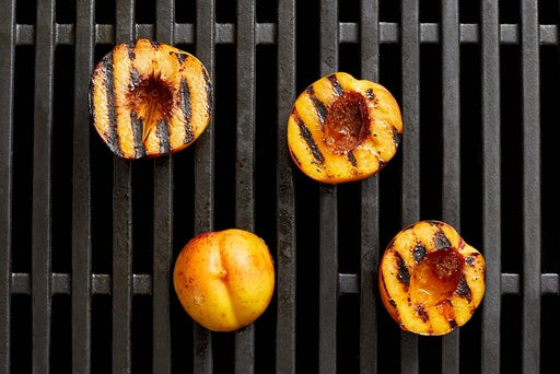 Grill the nectarines