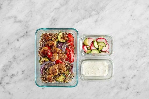 Assemble & Store the Chicken & Vegetable Quinoa