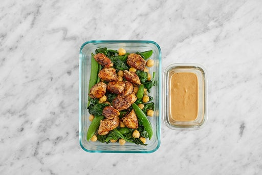 Assemble & Store the Za'atar Chicken & Vegetables
