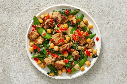 Finish & Serve the Za'atar Chicken & Vegetables