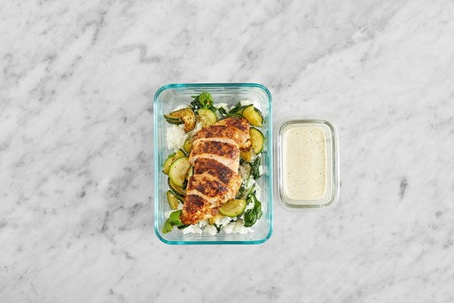 Assemble & Store the Mexican-Spiced Chicken & Rice
