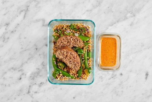 Assemble & Store the Baked Meatloaf & Farro