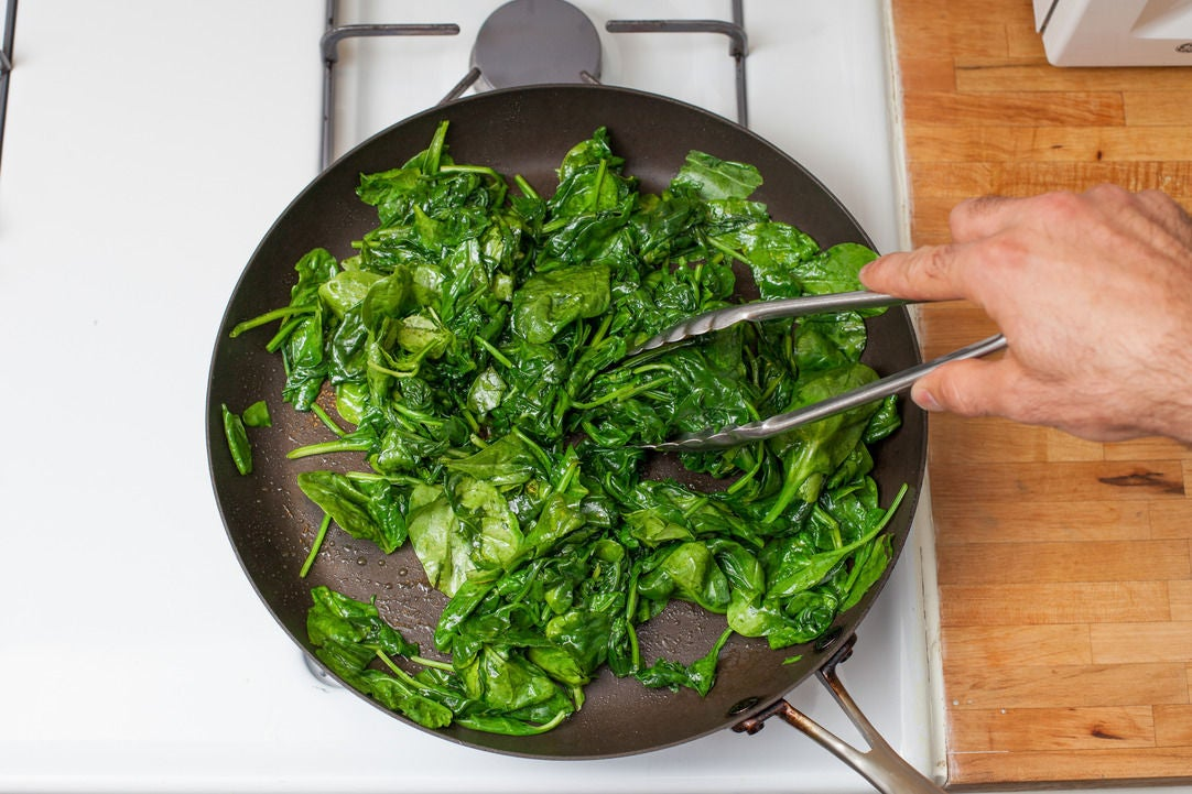 Start the spinach: