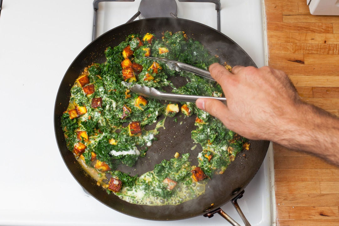 Finish the paneer & spinach:
