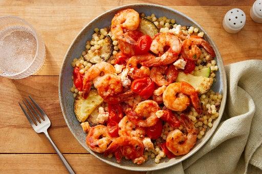 Greek-Style Shrimp & Feta with Fregola Sarda Pasta