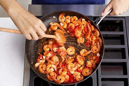 Cook the shrimp & make the sauce