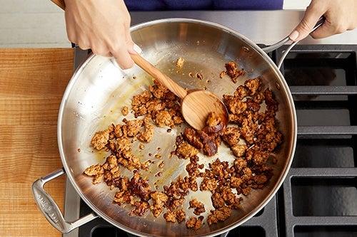 Cook the chorizo