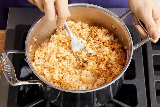 Cook & finish the rice