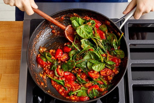 Crisp the pancetta & make the sauce