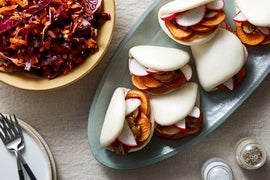 Sweet Potato & Mushroom Bao with Hoisin Mayo & Cabbage Slaw