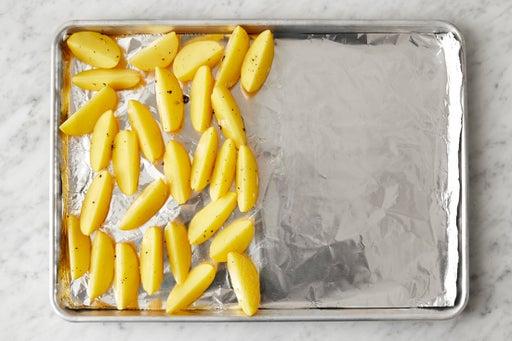 Season the potatoes:
