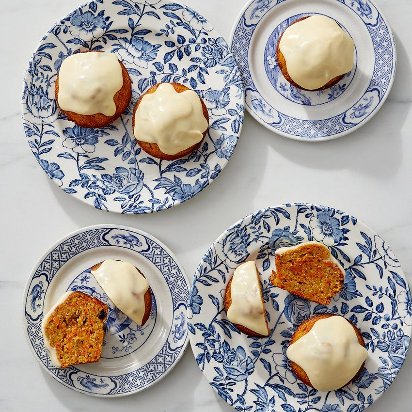 Carrot Cornmeal Cakes with Mascarpone Maple Frosting