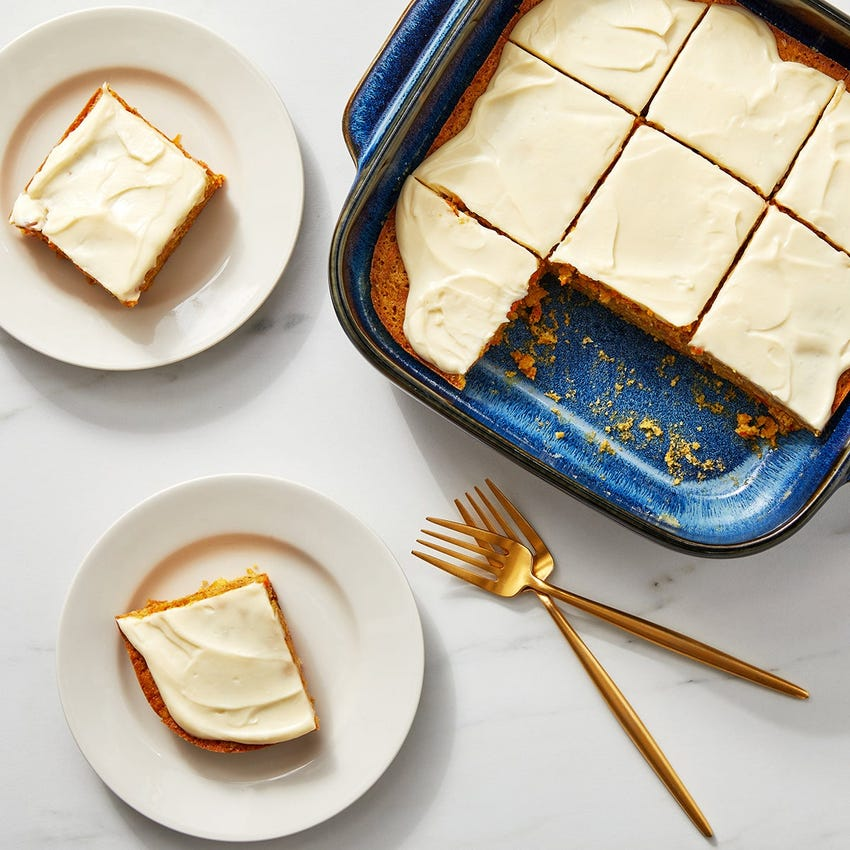 Carrot Cornmeal Cake with Mascarpone Maple Frosting