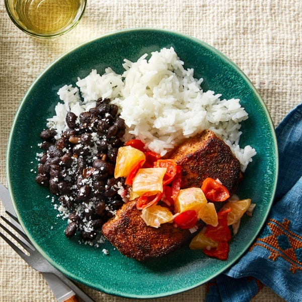 Mexican-Spiced Pork Chops with Citrus Salsa & Black Beans