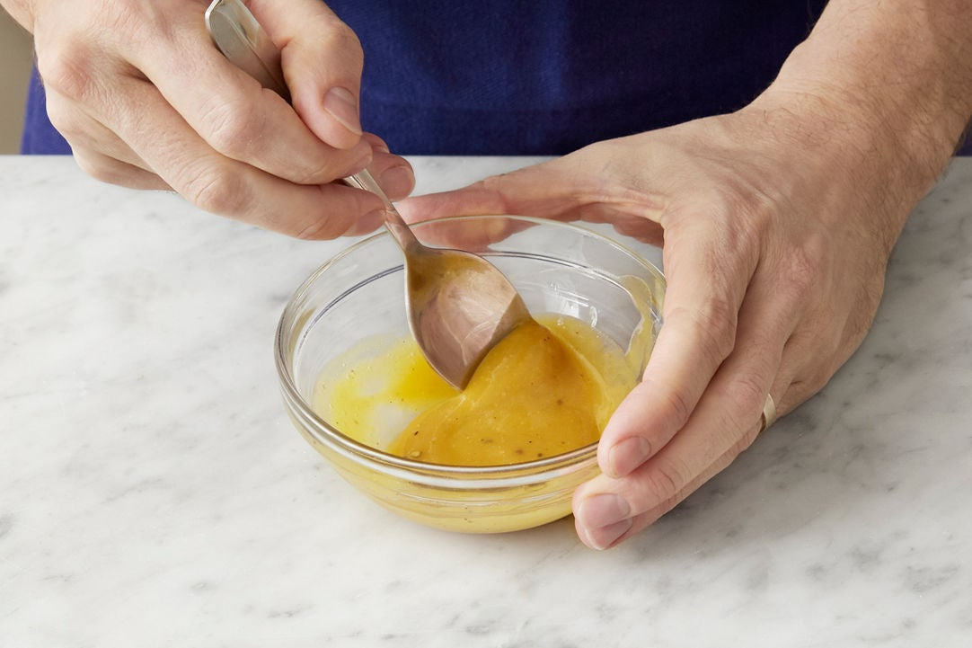 Make the honey mustard: