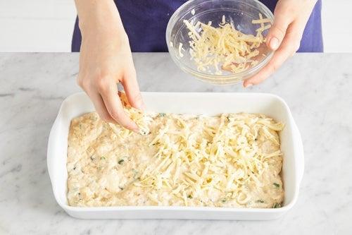 Assemble & bake the spoonbread
