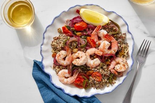 Veracruz-Style Shrimp & Lemon Quinoa with Vegetables