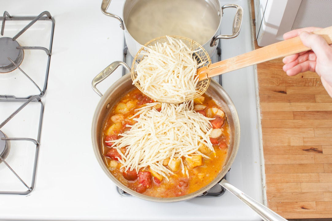 Cook the pasta & add it to the sauce: