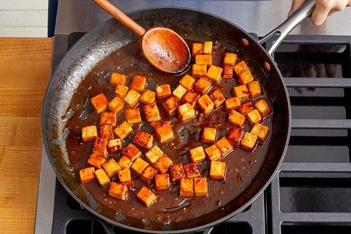 Glaze the tofu & serve your dish