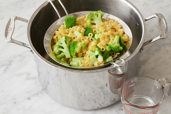 Cook the pasta & broccoli: