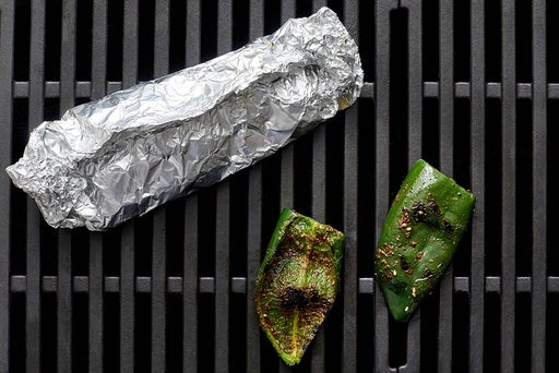 Grill & dice the pepper