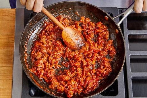 Cook the chorizo & onion
