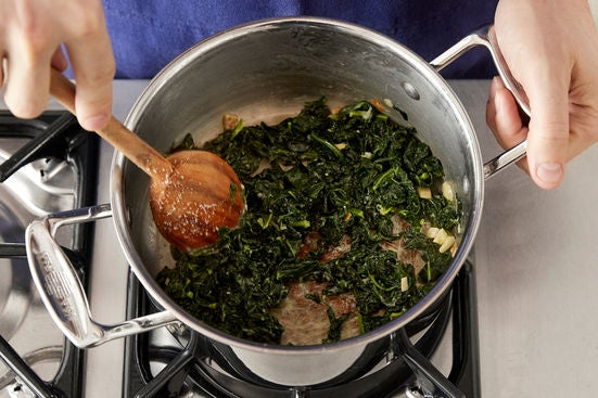 Make the creamed kale: