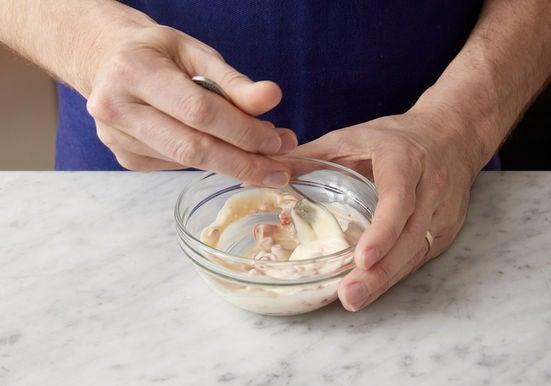 Make the pepper aioli: