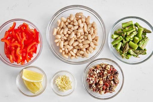 Prepare the ingredients & marinate the feta