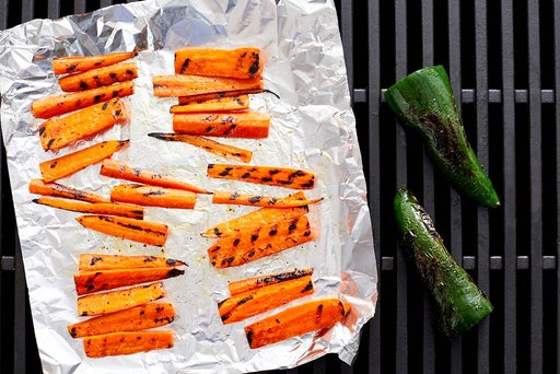 Grill the carrots & poblano pepper