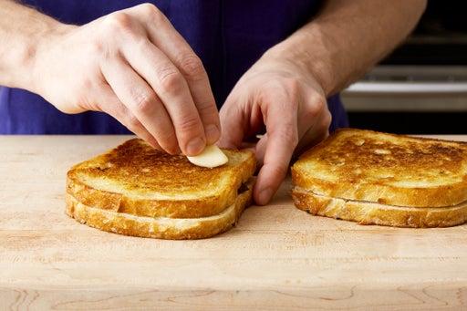 Cook & season the sandwiches: