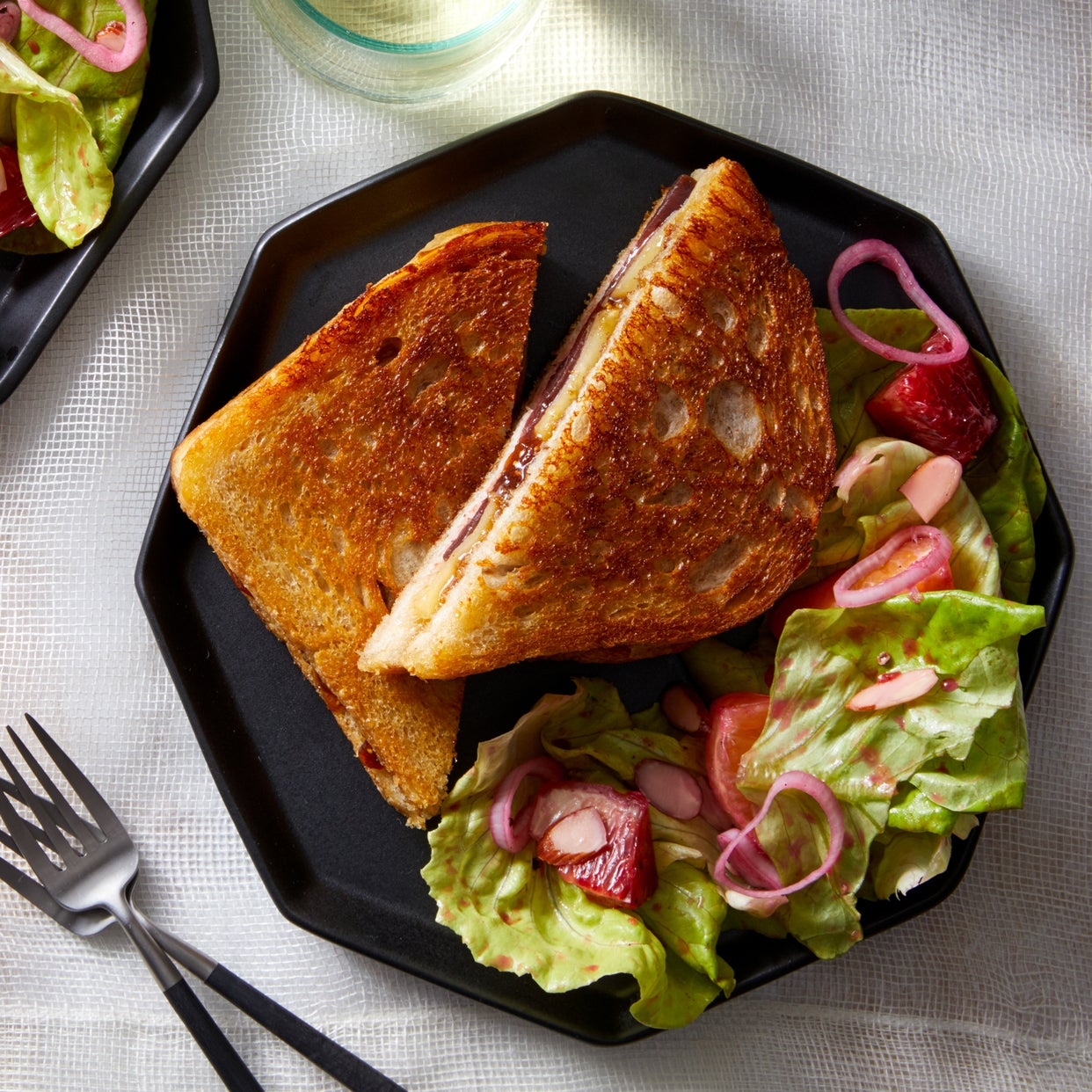 Pickled Beet Grilled Cheese Sandwiches with Mixed Citrus Salad
