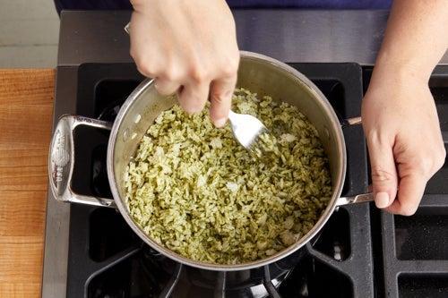 Make the cilantro rice