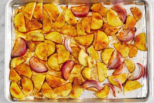 Start the onion & potatoes