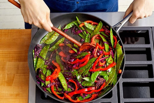 Cook the remaining vegetables