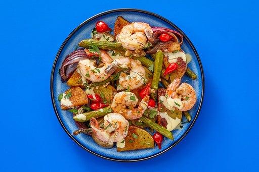 Finish & Serve the Spanish Shrimp & Veggies
