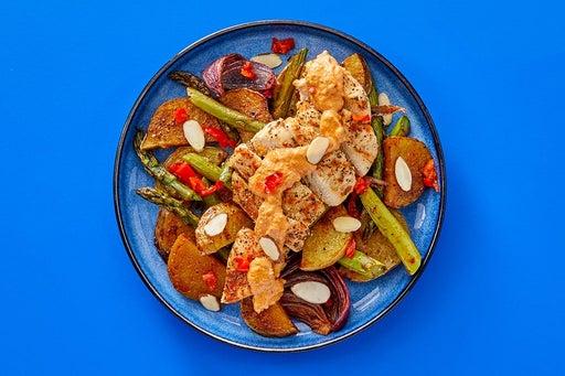 Finish & Serve the Creamy Romesco Chicken