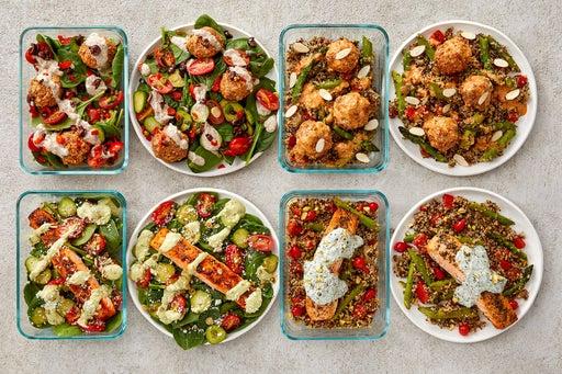 Turkey Meatballs & Salmon Meal Prep Bundle