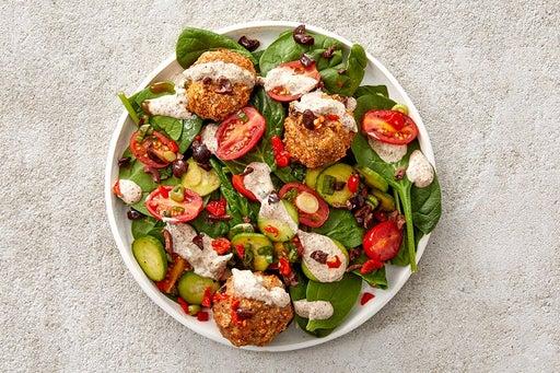 Finish & Serve the Turkey Meatball Salad