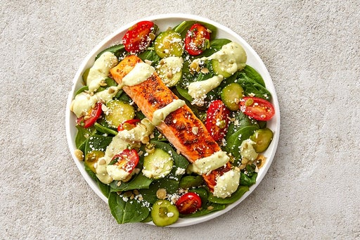 Finish & Serve the Baked Salmon Salad