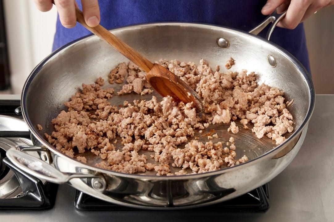 Brown the pork: