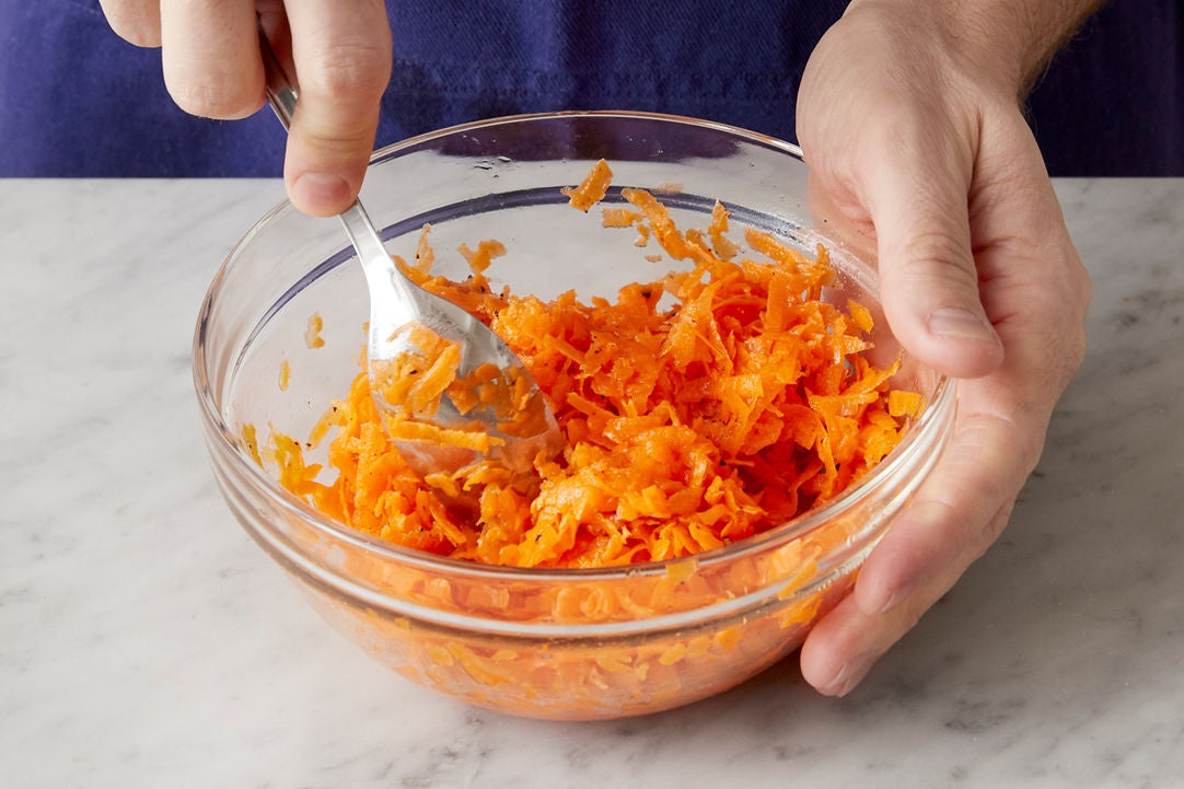 Marinate the carrots: