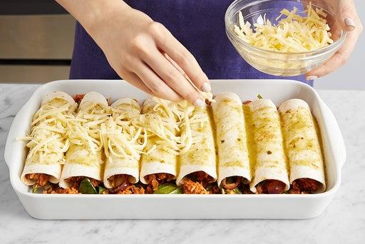Make the filling & assemble the enchiladas