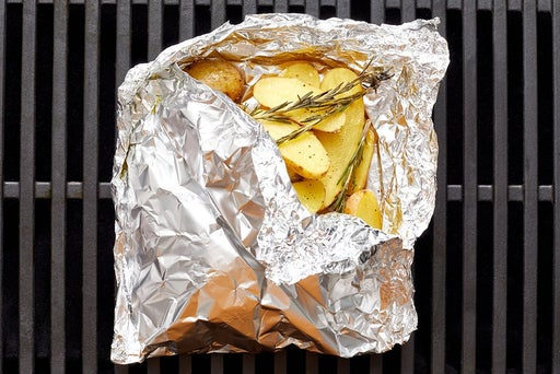 Grill the potatoes