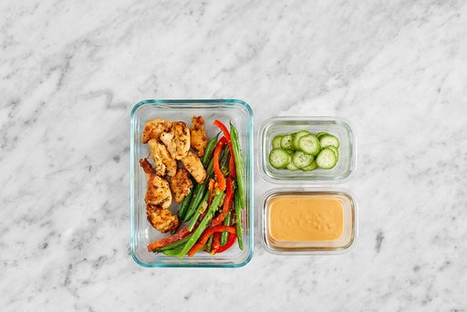 Assemble & Store the Spicy Peanut Chicken Salad