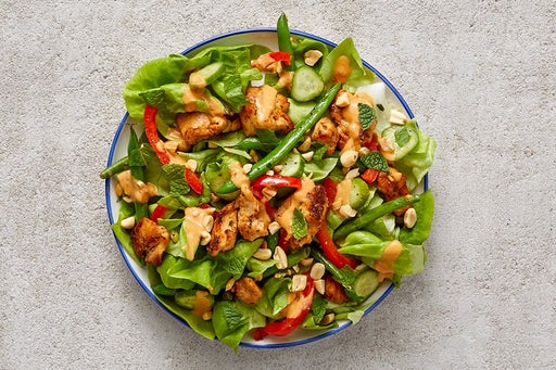 Finish & Serve the Spicy Peanut Chicken Salad
