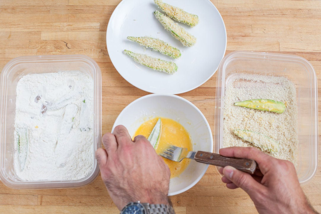 Prepare the okra: