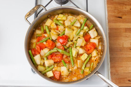 Make the vegetable stew: