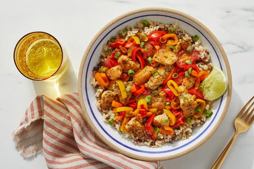 Veracruz-Style Chicken & Rice Bowl with Tomatoes & Peppers